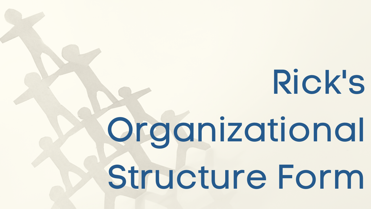 organizational structure form